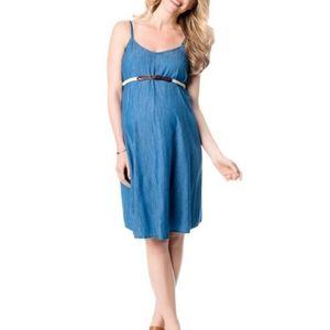NWOT MOTHERHOOD DENIM MATERNITY DRESS